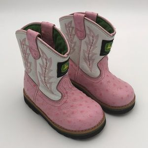 Girls' John Deere Leather Boots (toddler size 6)